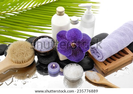 Tropical Spa setting Background