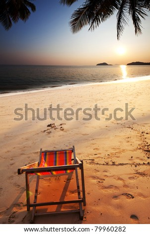 tropical sunset on beach