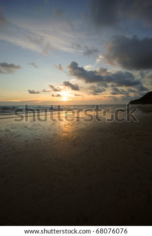 Tropical Thai Asian Beach - stock photo