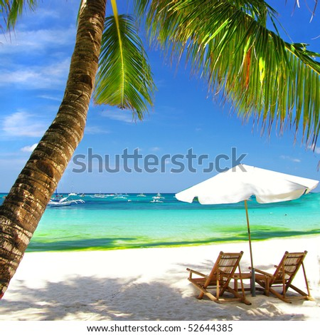 tropical vacation - stock photo