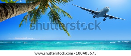 Tropical vacation concept - stock photo
