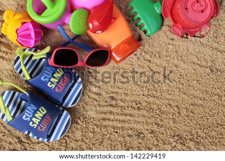 Tropical vacations with kids - stock photo
