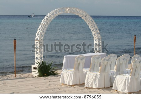 Tropical Wedding - stock photo