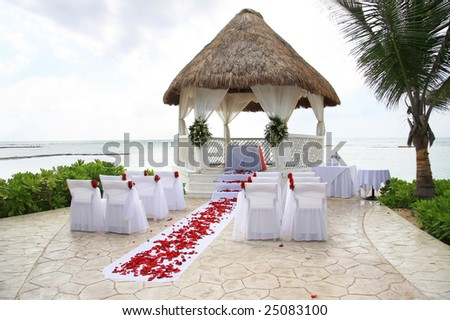 Tropical wedding location. - stock photo