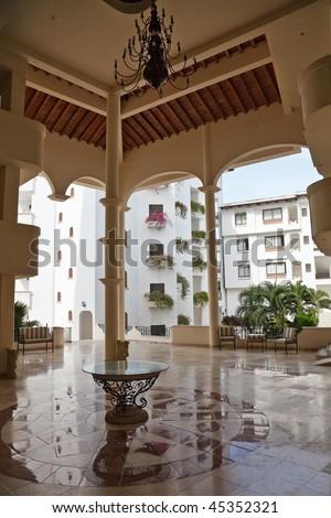 Tropicana hotel lobby, Puerto Vallarta, Mexico - stock photo
