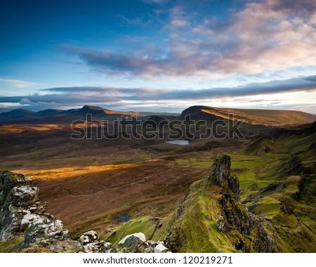 Trotternish sunrise - stock photo