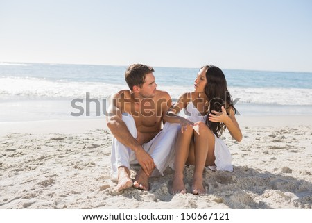 Trouble in paradise at the beach - stock photo