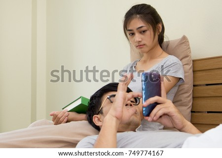 Think, Asian girlfriend and her lover