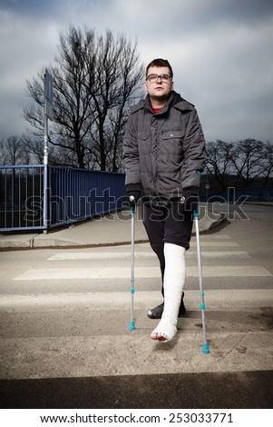 Troubles of injury - stock photo