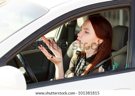 Troubles on the road - stock photo