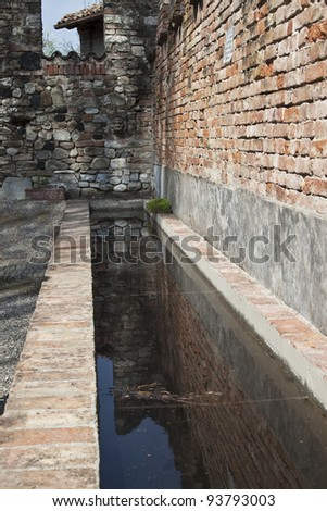 Trough in the medieval farming village