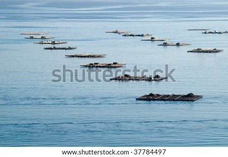 troughs in the sea - stock photo