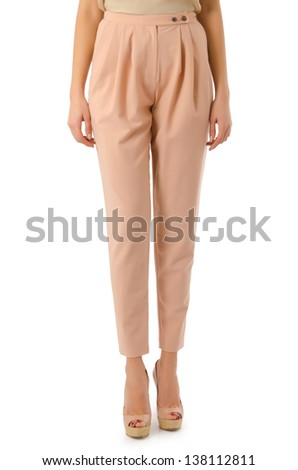 Trousers isolated on the white background