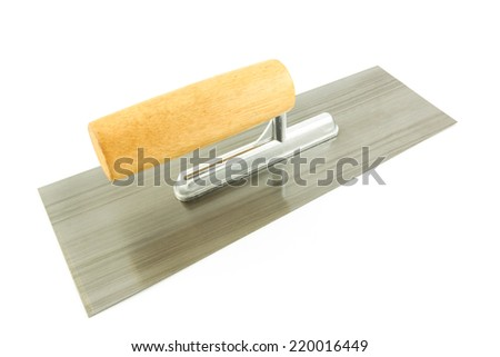 trowel isolated on white background - stock photo