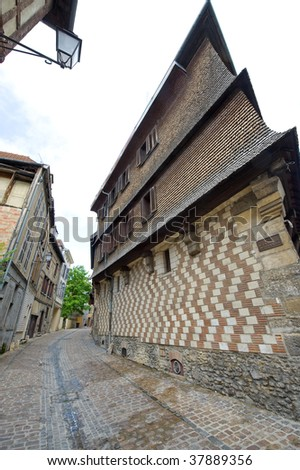 Troyes (Aube, Champagne-Ardenne, France) - Street and ancient buildings - stock photo
