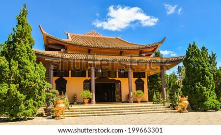 Truc Lam Zen Monastery - Da Lat, Vietnam - stock photo