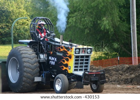 Truck and Tractor pull at old tyme picnic Saint Peters Missouri - stock photo