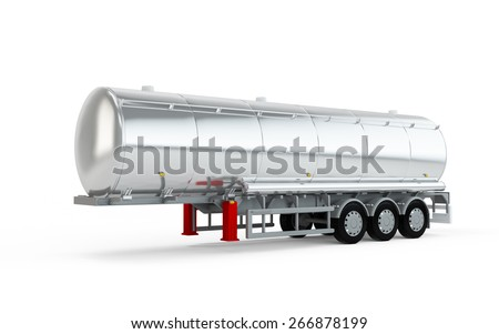 Truck big cistern isolated on white background - stock photo