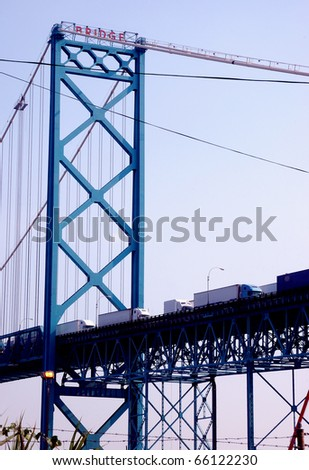 Truck Bridge - stock photo