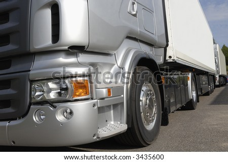truck chassi idea in silver-grey - stock photo