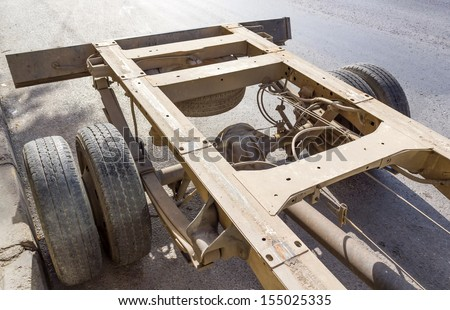 truck chassis - stock photo