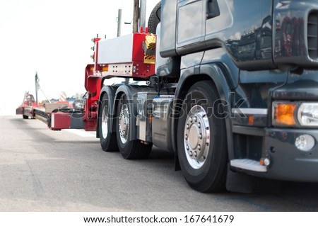 Truck Details Heavy Transport - stock photo