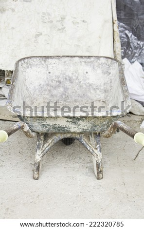Truck dirty plaster construction, architecture - stock photo