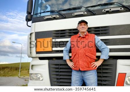 Truck driver - stock photo