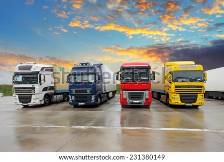 Truck - Freight transportation - stock photo