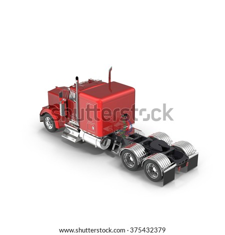 Truck Generic Isolated on White Background