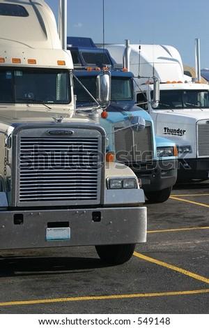 Truck grills - stock photo