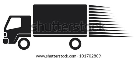 truck icon - stock photo