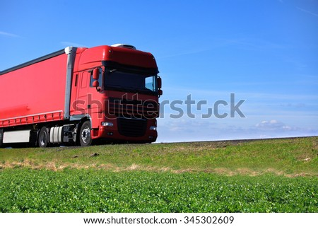 Truck in the road