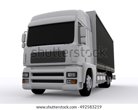 Truck isolated 3d rendering