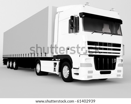 truck isolated on gray