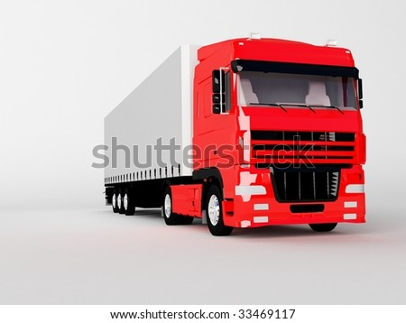 truck isolated on white