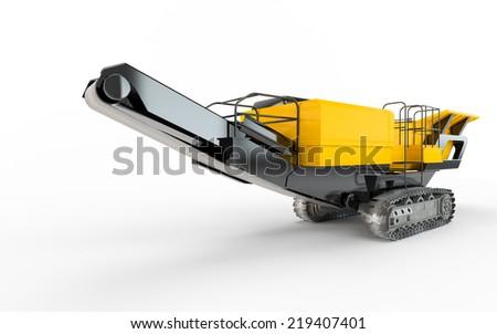 Truck isolated on white background - stock photo