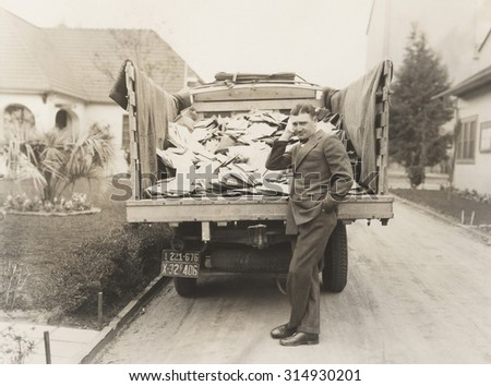 Truck load of mail - stock photo