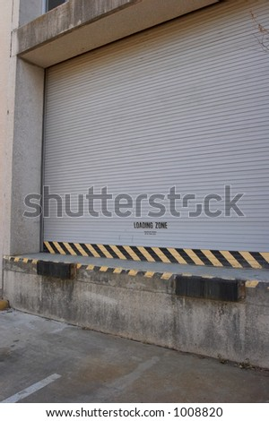 Truck loading dock - stock photo