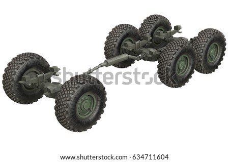 Truck Military Chassis Frame Wheels 3 D Stock Illustration 634711604 ...