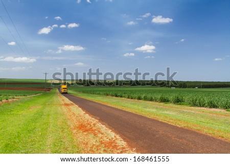 Truck on a road, Queensland, Australia - stock photo