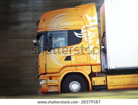 Truck on highway - stock photo
