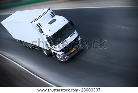 truck on motorway - see other trucks in my portfolio - stock photo