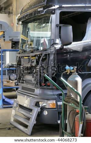 Truck repair. - stock photo