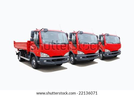 Truck's fleet - stock photo