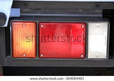 Truck taillight - stock photo