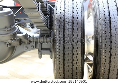 truck tire - stock photo