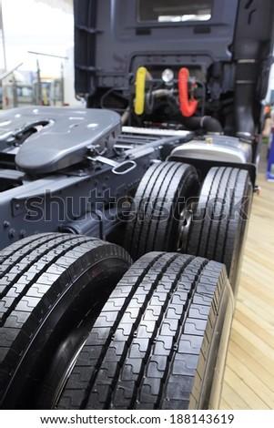 truck tire - stock photo