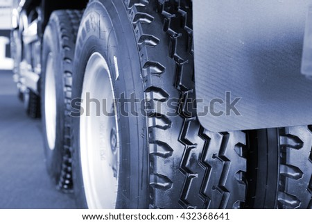 truck tire close up