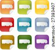 Truck transport cargo logistics sticker icon, multiple color set - stock photo